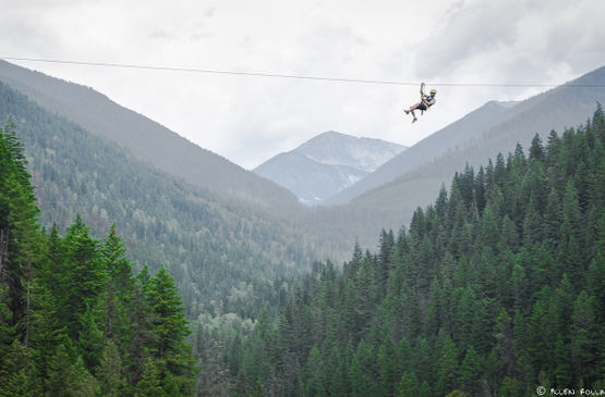 Fun and Safe Things to Do in BC in Bad Weather: Go Ziplining