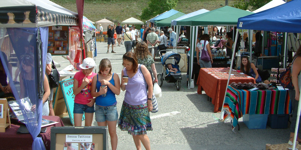 Visit the Invermere Farmers' Market for some local goods.