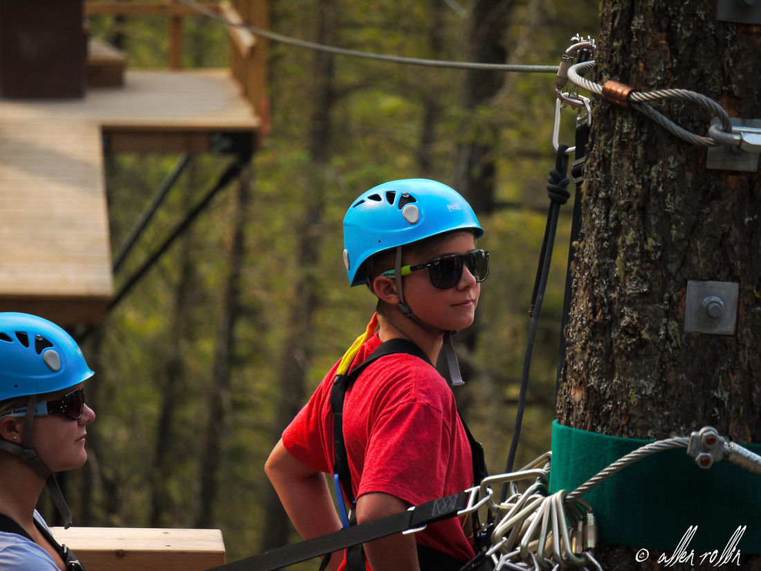 The trolley and harness are two of the most important pieces of safety equipment when ziplining in BC.