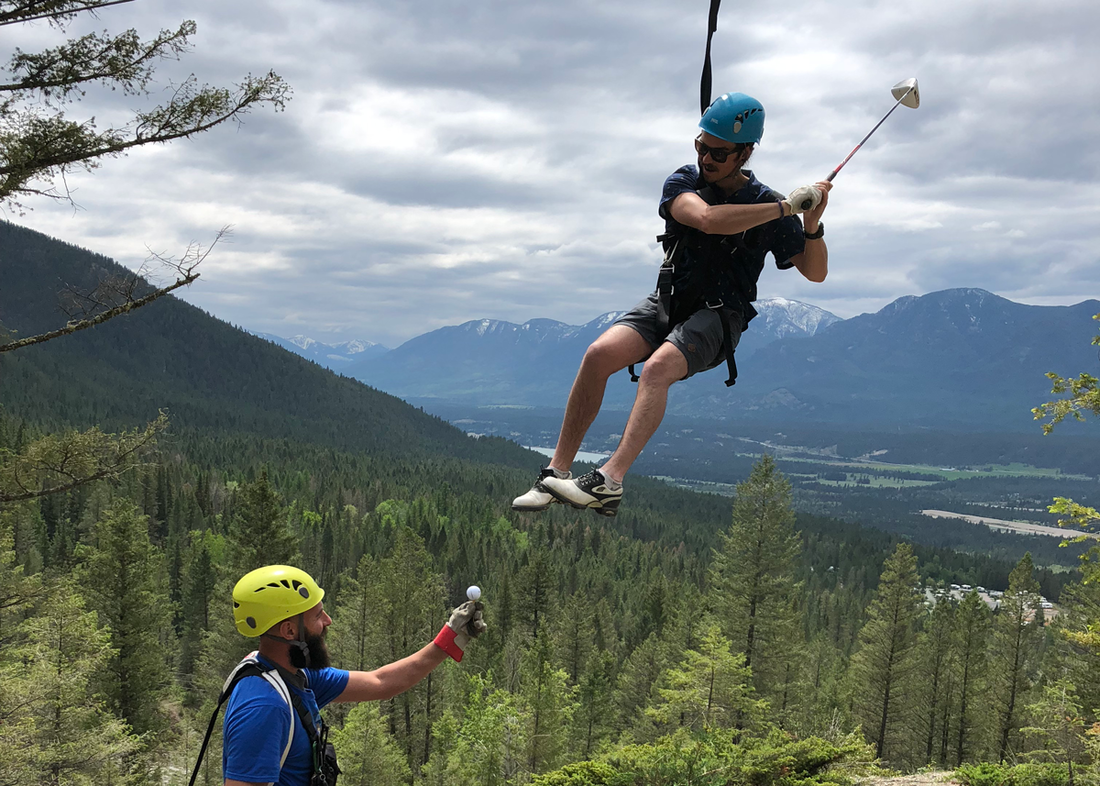 From swinging the clubs to swinging along a zipline, there's plenty to do at Fairmont Hot Springs Resort, BC.